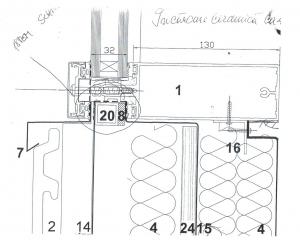 sectiune verticala parapet sus