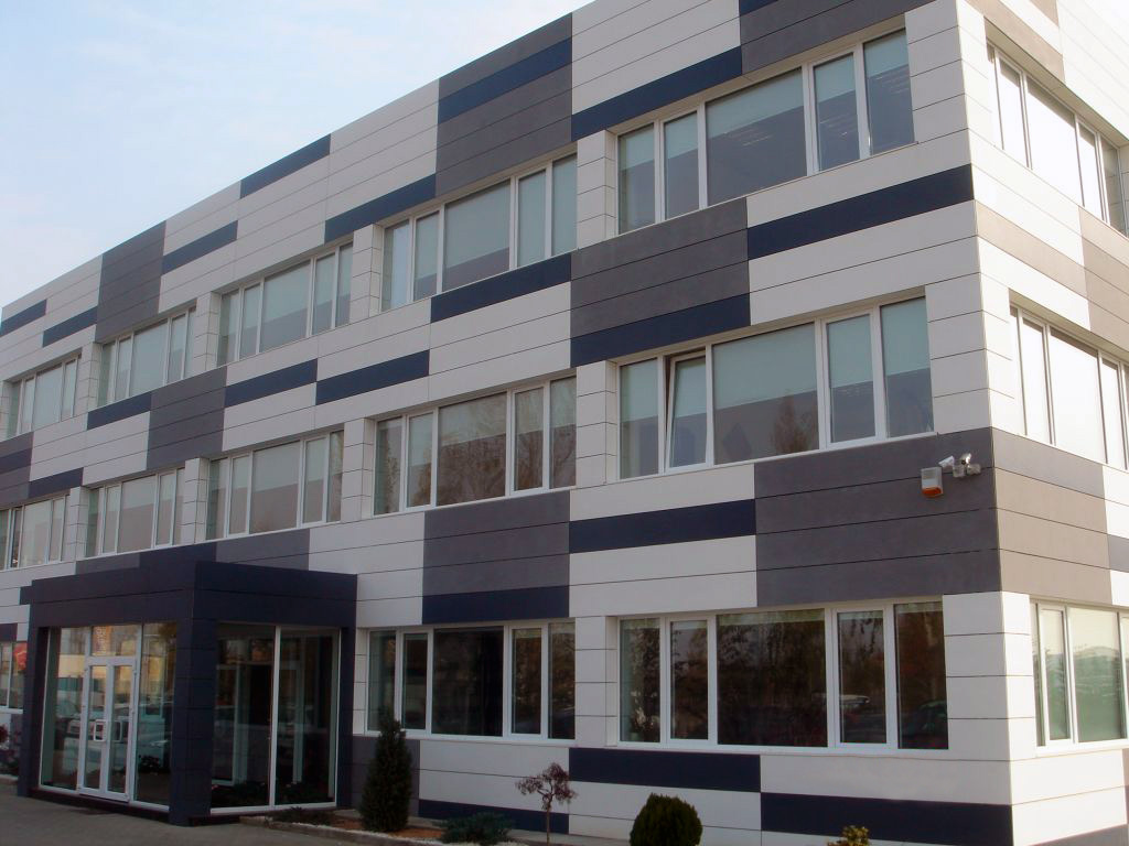 customized ventilated facades with fiber cement boards